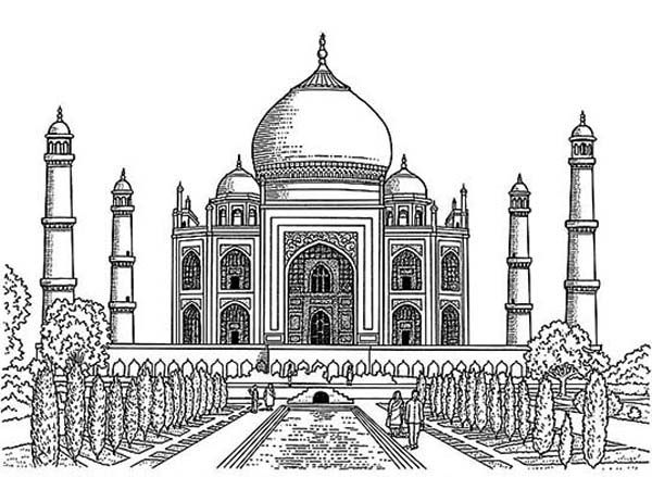 taj mahal outline sketch taj mahal cartoon clipart best sketch mahal outline taj
