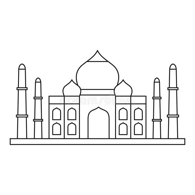 taj mahal outline sketch taj mahal cartoon drawing at getdrawings free download outline mahal sketch taj