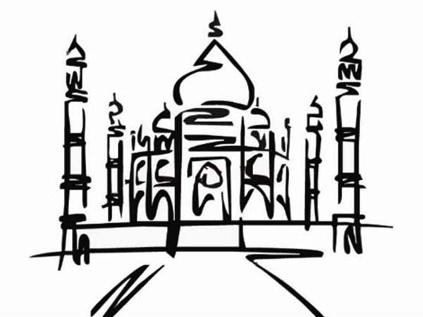 taj mahal outline sketch taj mahal clipart outline pictures on cliparts pub 2020 sketch mahal taj outline
