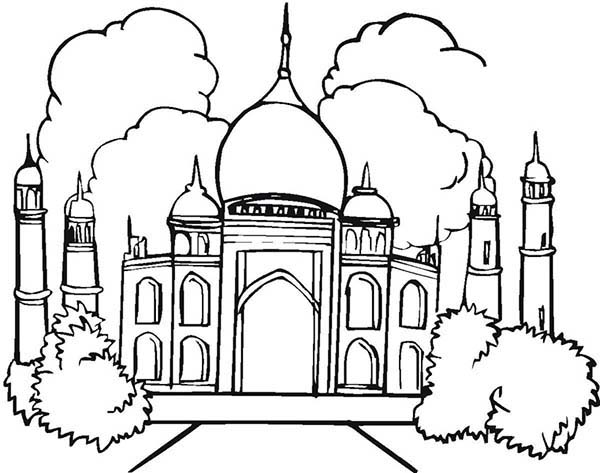 taj mahal outline sketch taj mahal coloring lesson kids coloring page coloring taj mahal outline sketch