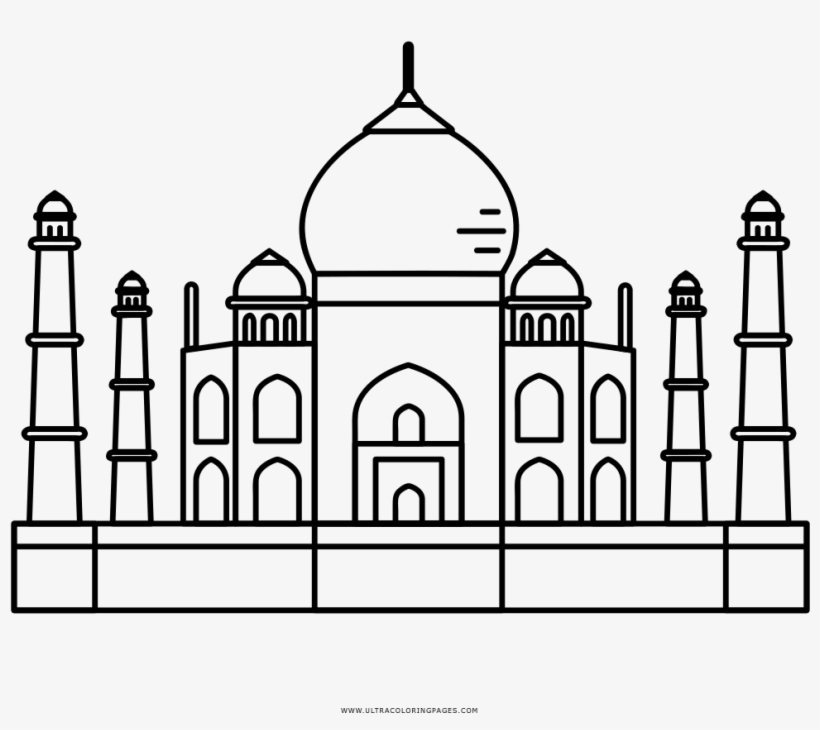 taj mahal outline sketch taj mahal coloring page free printable coloring pages outline sketch mahal taj
