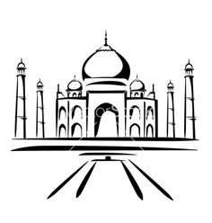 taj mahal outline sketch taj mahal drawing stock illustrations 342 taj mahal taj outline sketch mahal