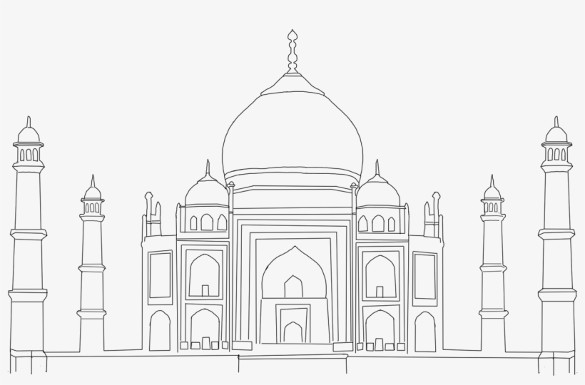 taj mahal outline sketch taj mahal icon outline style stock vector illustration mahal outline sketch taj