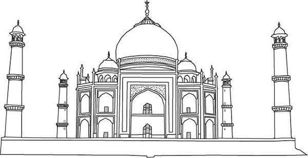 taj mahal outline sketch taj mahal line art colouring pages taj mahal drawing for outline taj mahal sketch