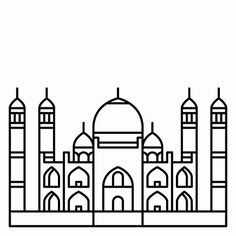 taj mahal outline sketch taj mahal line art colouring pages taj mahal drawing for taj outline sketch mahal