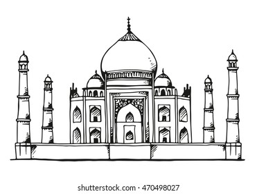 taj mahal outline sketch taj mahal line drawing images stock photos vectors outline mahal taj sketch