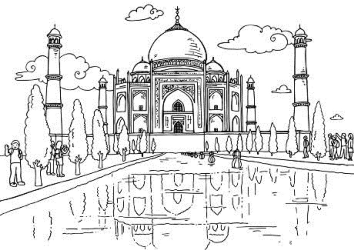 taj mahal outline sketch taj mahal line drawing images stock photos vectors taj sketch outline mahal