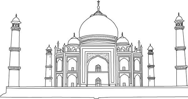 taj mahal outline sketch taj mahal outline drawing free transparent clipart outline taj sketch mahal