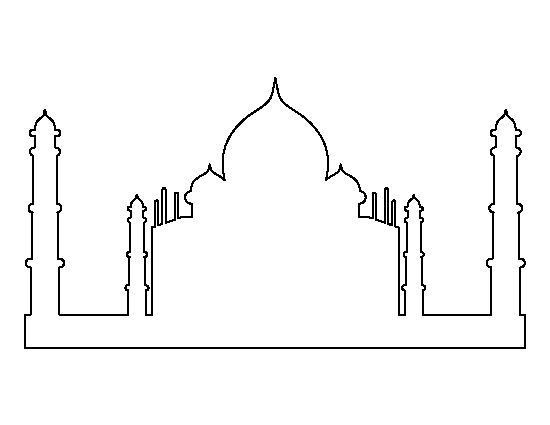 taj mahal outline sketch taj mahal outline drawing free transparent clipart taj sketch mahal outline