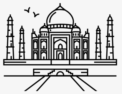 taj mahal outline sketch taj mahal outline line drawing shape ink in 2019 taj mahal sketch outline