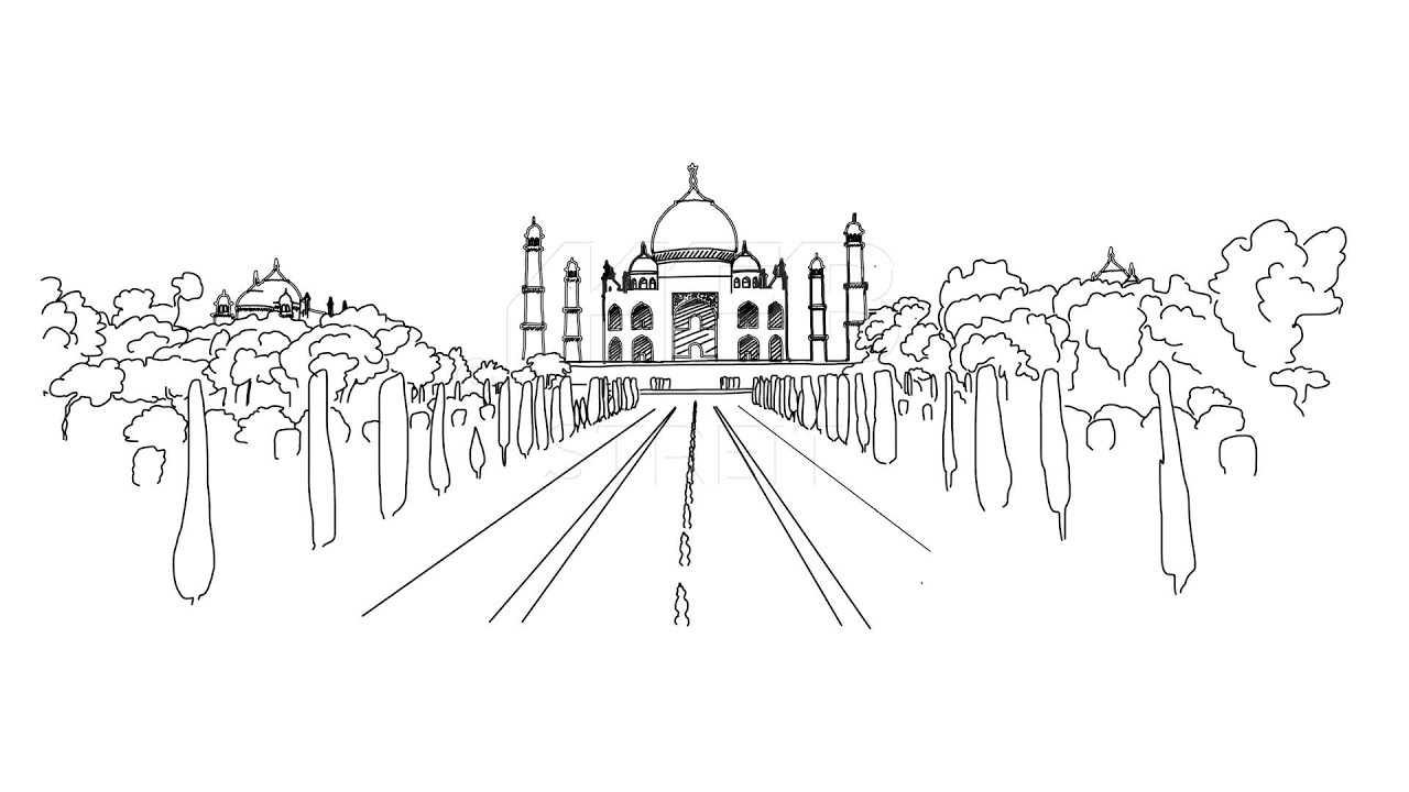 taj mahal outline sketch the taj mahal coloring page taj mahal drawing taj mahal outline sketch mahal taj
