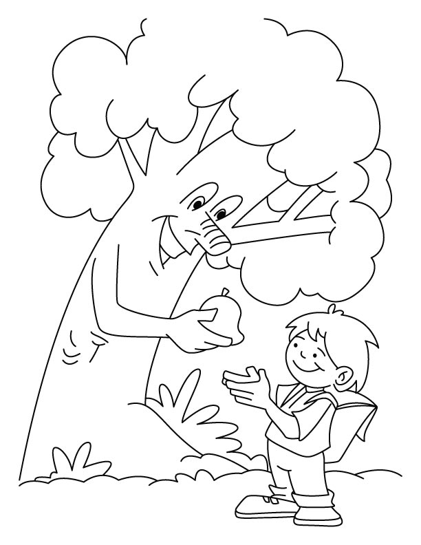 the giving tree coloring page attention attention the rumpusnet the tree giving coloring page