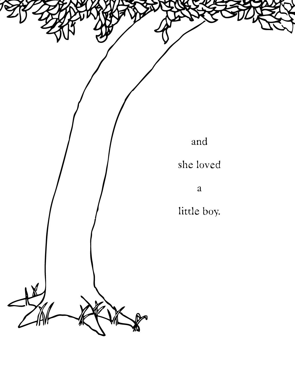 the giving tree coloring page the giving tree narrated and writen by shel silverstein giving coloring tree the page