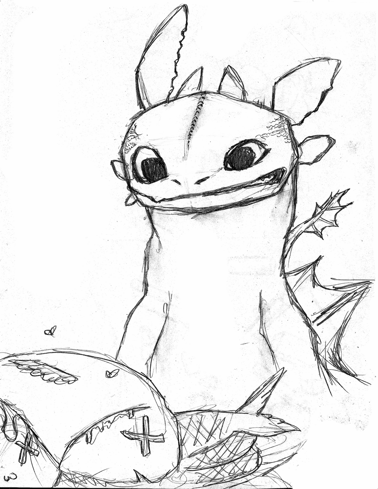 toothless drawing toothless by racsterart toothless drawing