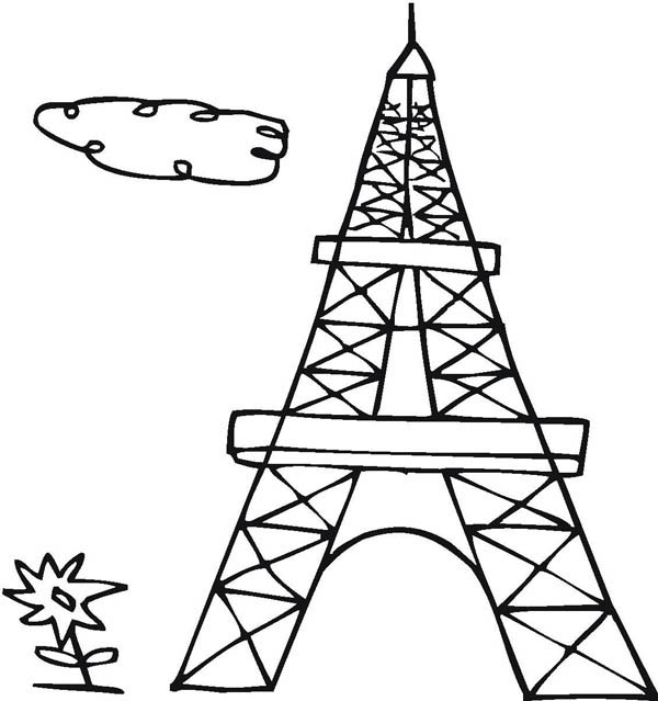 tower coloring pages drawing french eiffel tower coloring page coloring sky coloring pages tower