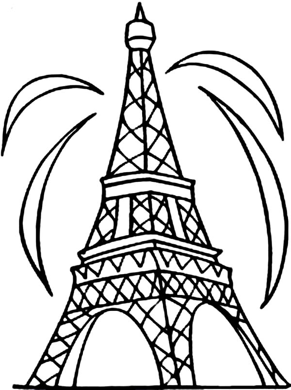 tower coloring pages eiffel tower coloring page clipart best coloring pages tower