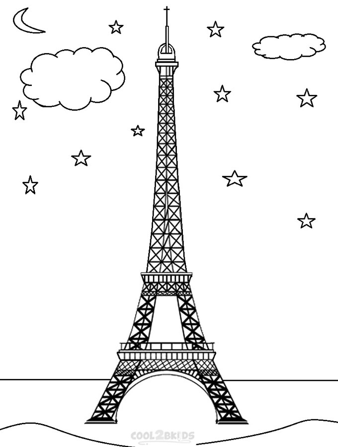 tower coloring pages eiffel tower coloring pages coloring pages to download coloring tower pages