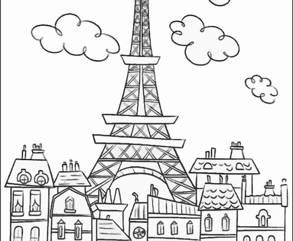 tower coloring pages eiffel tower coloring pages for kids at getdrawings free pages coloring tower
