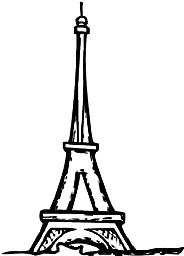 tower coloring pages eiffel tower i39m in love coloring page download print tower coloring pages