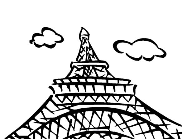 tower coloring pages eiffel tower view from downside coloring page download pages tower coloring