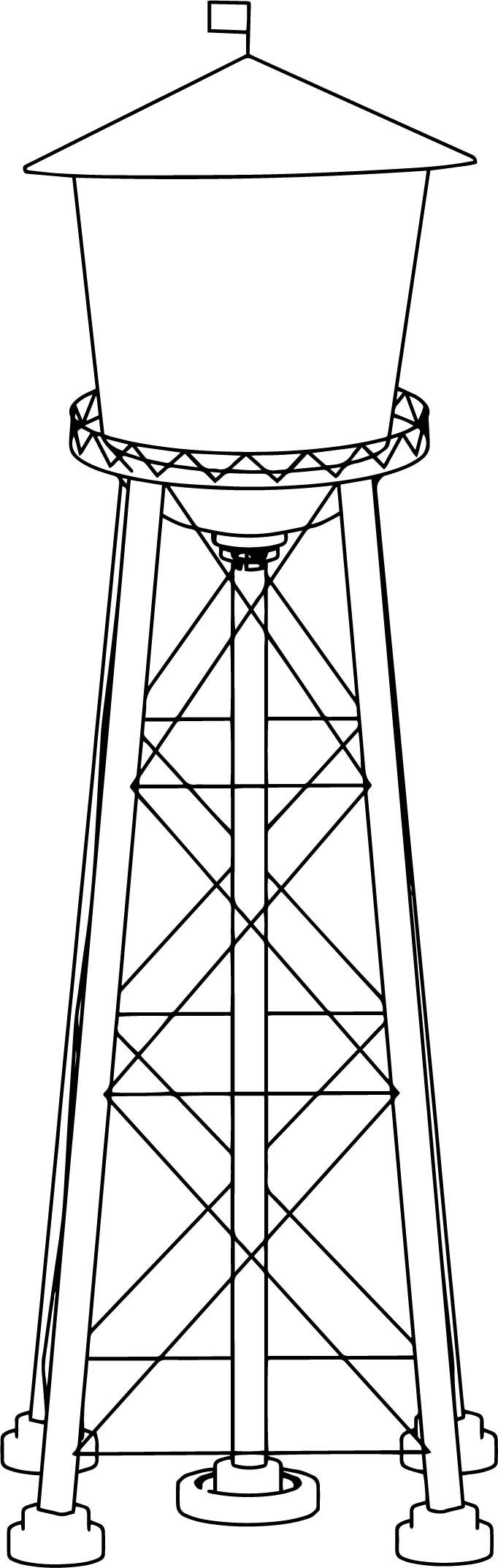 tower coloring pages nice watertower revised coloring page with images pages tower coloring
