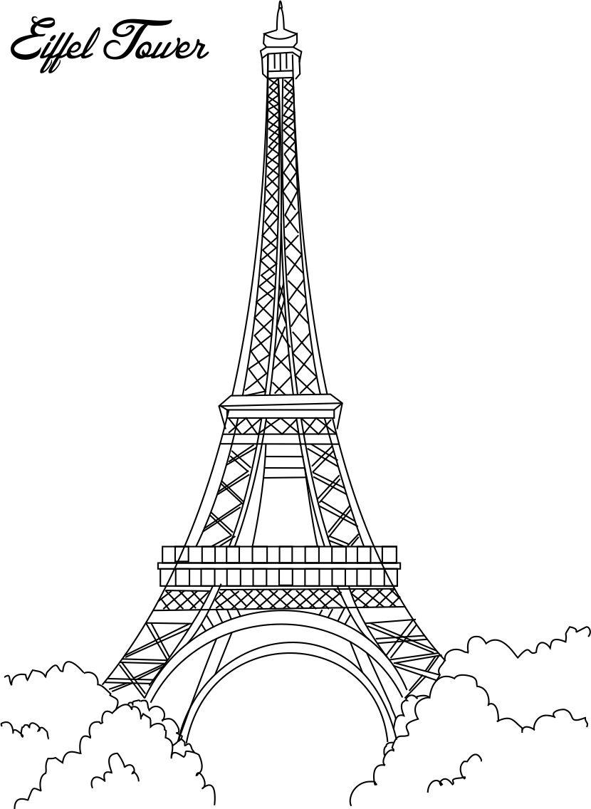 tower coloring pages paris eiffel tower coloring pages download and print for free tower pages coloring