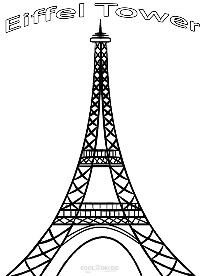 tower coloring pages printable eiffel tower coloring pages for kids cool2bkids coloring tower pages