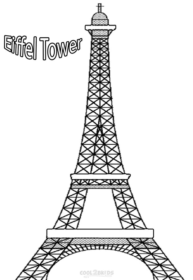 tower coloring pages printable eiffel tower coloring pages for kids tower pages coloring