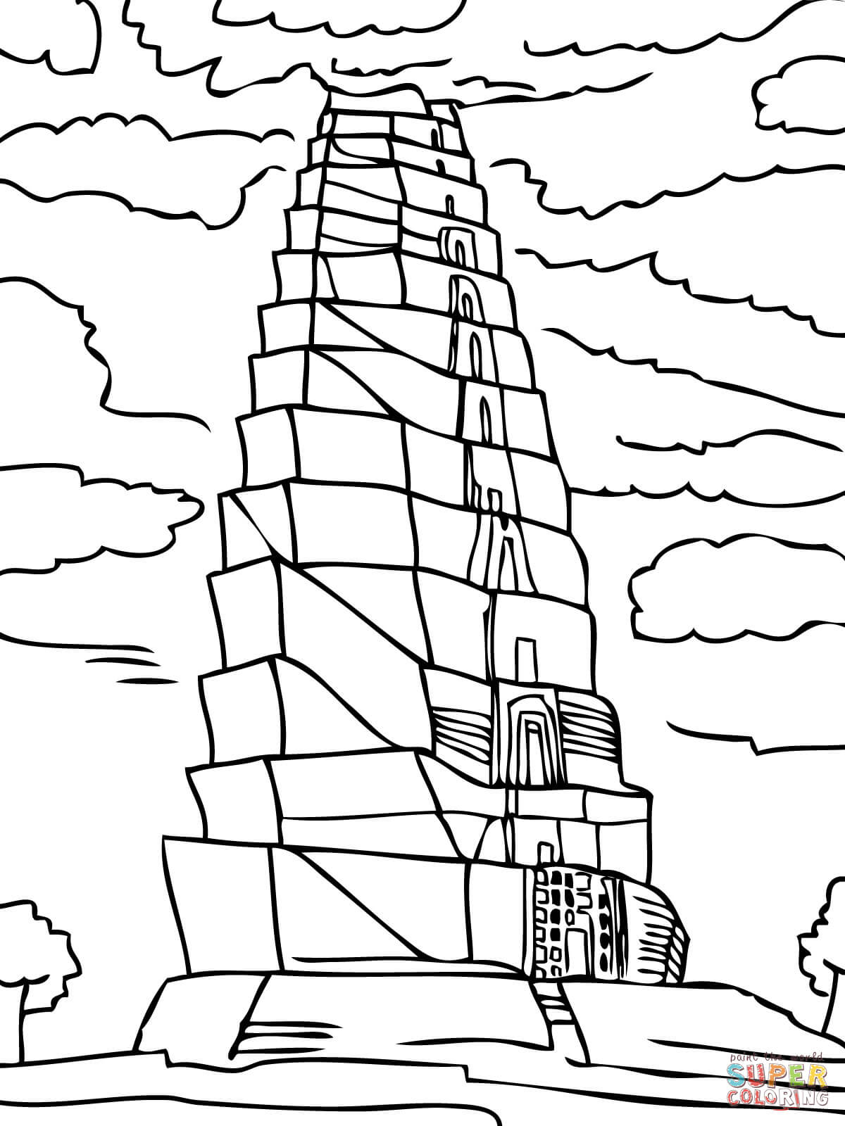tower coloring pages tower of babel coloring pages coloring home tower coloring pages